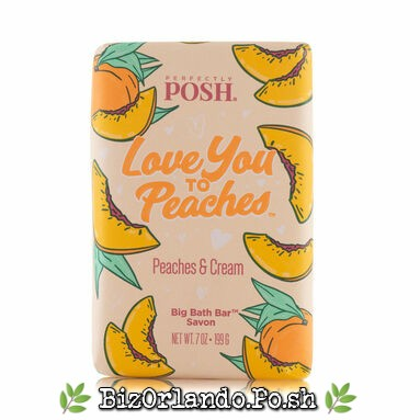 PERFECTLY POSH: Love You To Peaches Chunk Big Bath Bar