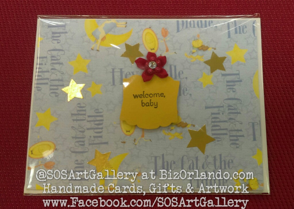 BABY: Handmade Greeting Card by @SOSArtGallery