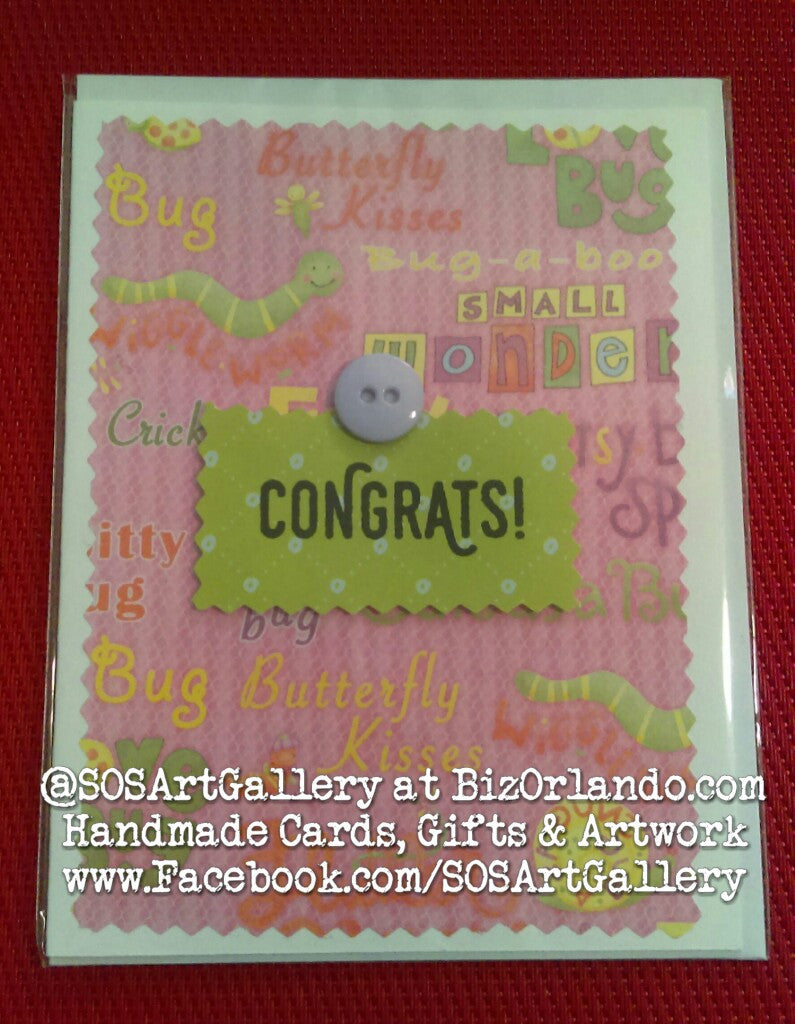 BABY: Handmade Greeting Card by Kathryn McHenry