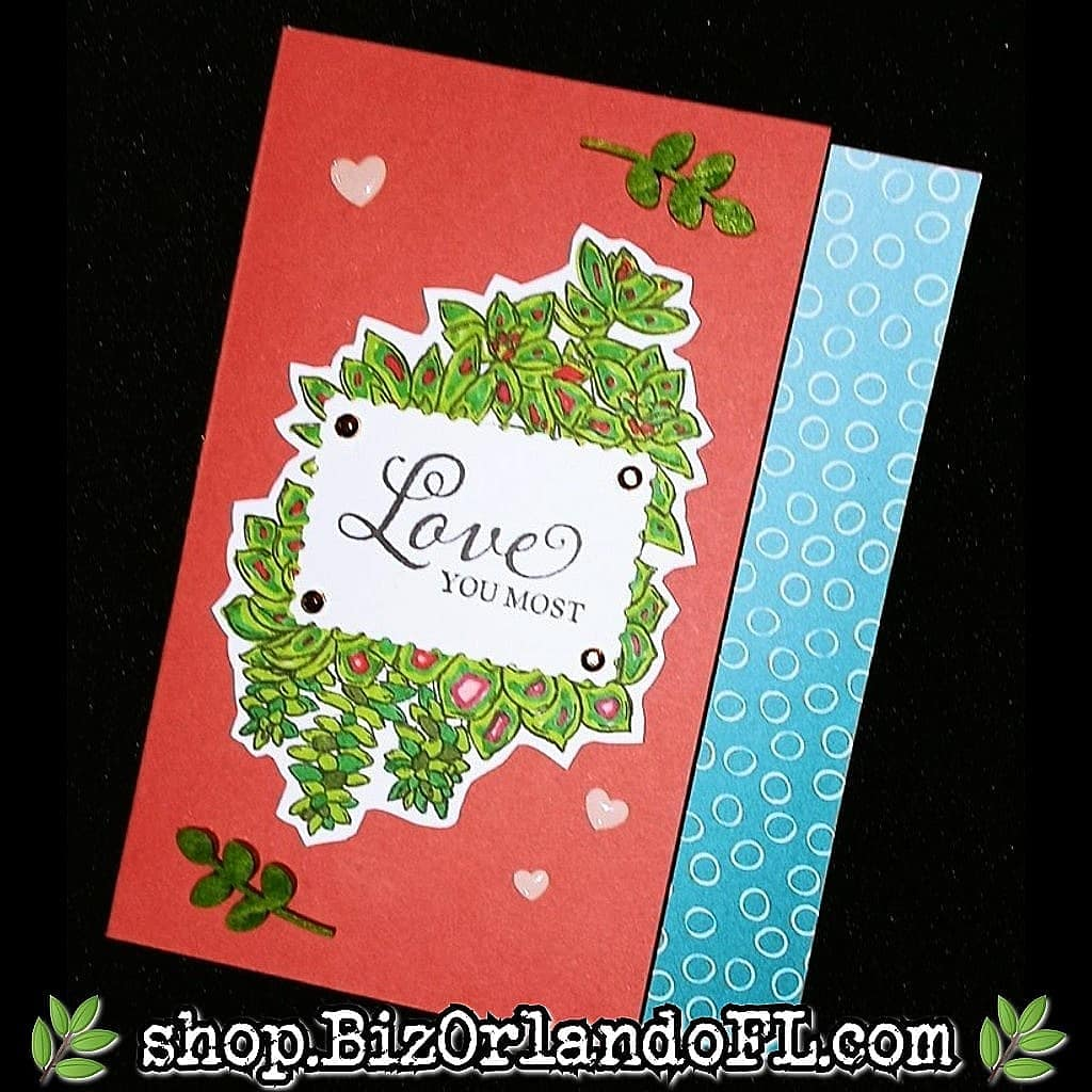 LOVE: Handmade Greeting Card by Kathryn McHenry