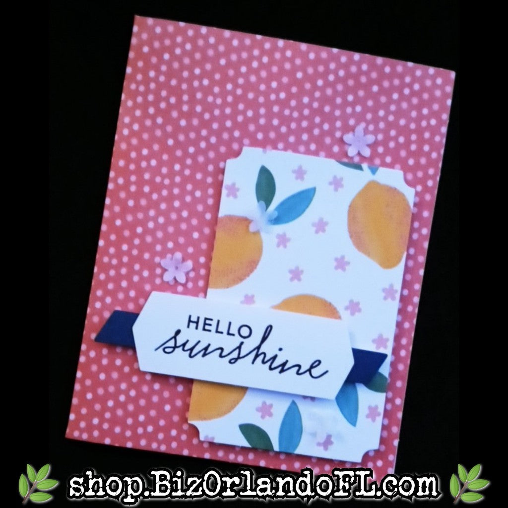 HELLO: Handcrafted Greeting Card by Kathryn McHenry