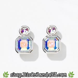TOUCHSTONE CRYSTAL: Square Up Earrings