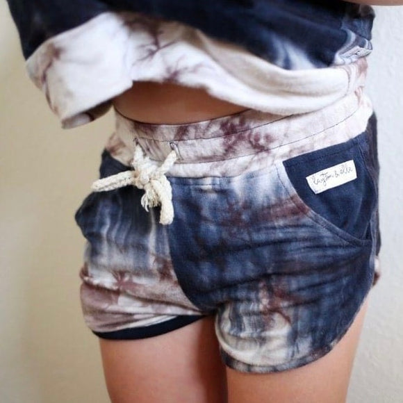 Extra Navy Tie Dye Youth Shorts