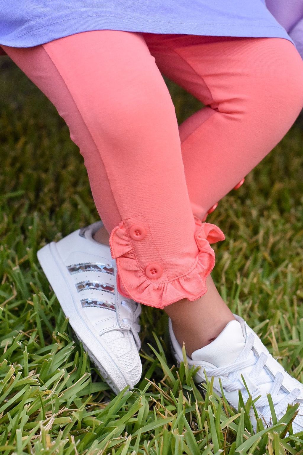 Riley Capris Coral + Grapefruit SALE