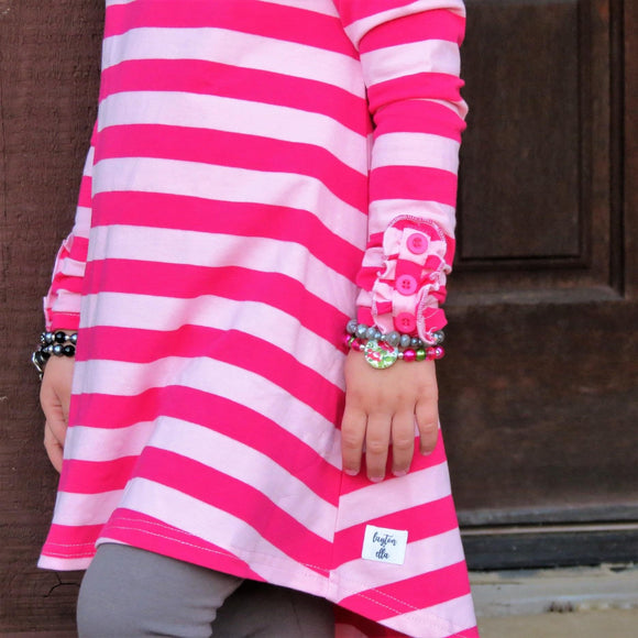 Hot Pink & Petal Pink Stripe Ella Tunic