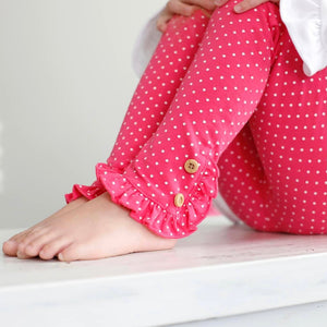 Hot Pink Dot Riley Leggings
