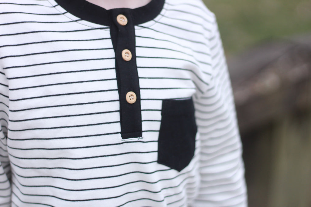 Henley Pocket Long Sleeve