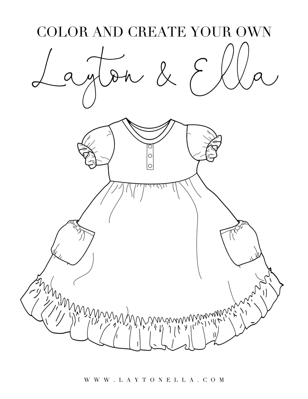 Free Coloring Page Downloads - Layton & Co