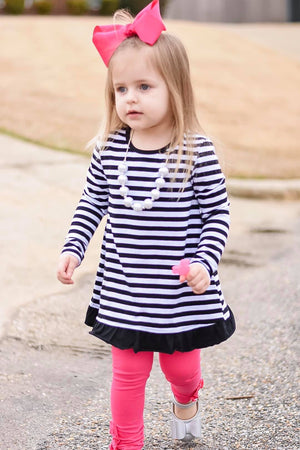 Black & White Stripe Tunic - Layton & Co