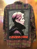 David Bowie Upcycled Flannel From Band Camper