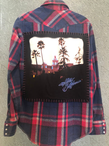 The Eagles Upcycled Flannel From Band Camper