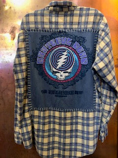 Grateful Dead Upcycled Flannel From Band Camper