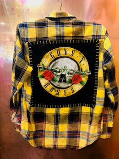 Guns 'N' Roses Upcycled Flannel From Band Camper