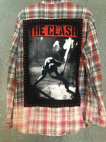 The Clash Upcycled Flannel From Band Camper