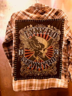 Lynyrd Skynyrd Upcycled Flannel From Band Camper