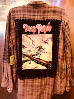 Deep Purple Upcycled Flannel from Band Camper