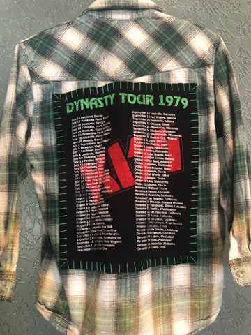 Kiss On Tour Upcycled Flannel From Band Camper