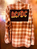 ACDC Bolt Upcycled Flannel From Band Camper
