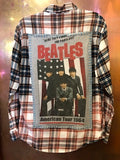 The Beatles '64 Upcycled Flannel From Band Camper