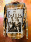 The Beatles Fab Four Upcycled Flannel From Band Camper