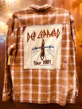 Def Leppard '91 Upcycled Flannel From Band Camper