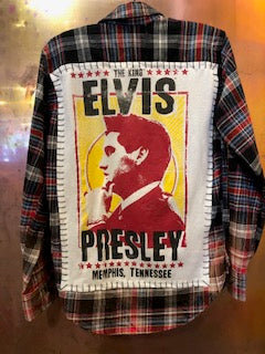 Elvis Upcycled Flannel From Band Camper