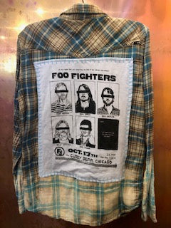 Foo Fighters Upcycled Flannel From Band Camper