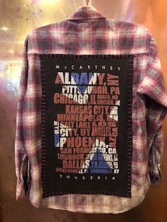 Paul McCartney US Tour Upcycled Flannel From Band Camper