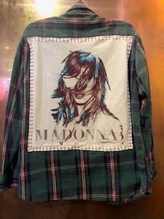 Madonna Upcycled Flannel From Band Camper