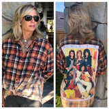 The Rolling Stones Upcycled Flannel From Band Camper