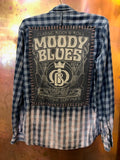 Moody Blues Upcycled Flannel from Band Camper