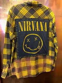 Nirvana Upcycled Flannel From Band Camper