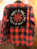 Red Hot Chili Peppers Upcycled Flannel From Band Camper