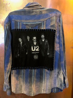 U2 Upcycled Flannel From Band Camper