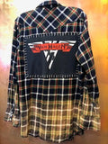 Van Halen Upcycled Flannel From Band Camper