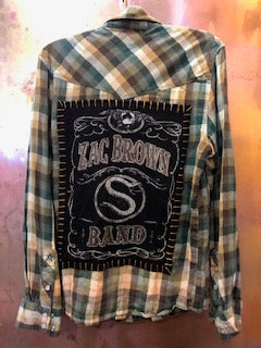 Zac Brown Upcycled Flannel From Band Camper