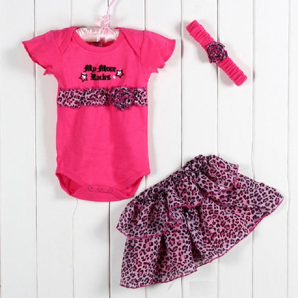3 Piece Ruffled Dress Set for Baby Girls