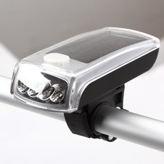 4 LED Solar Rechargeable Bicycle Headlight