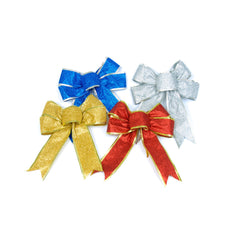 Christmas Bows - 2 Pack - Red, Blue Gold or Silver
