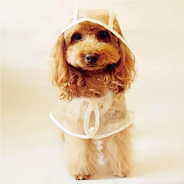 Clear Waterproof Pet Hoodie/Rain Jacket