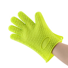 Heat Resistant Silicone Grilling Glove - Blue, Green, Orange, Red or Purple