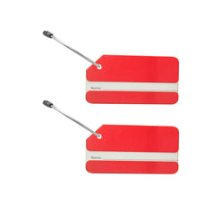 Colorful Aluminum Keyring Luggage Tags -Set of Two