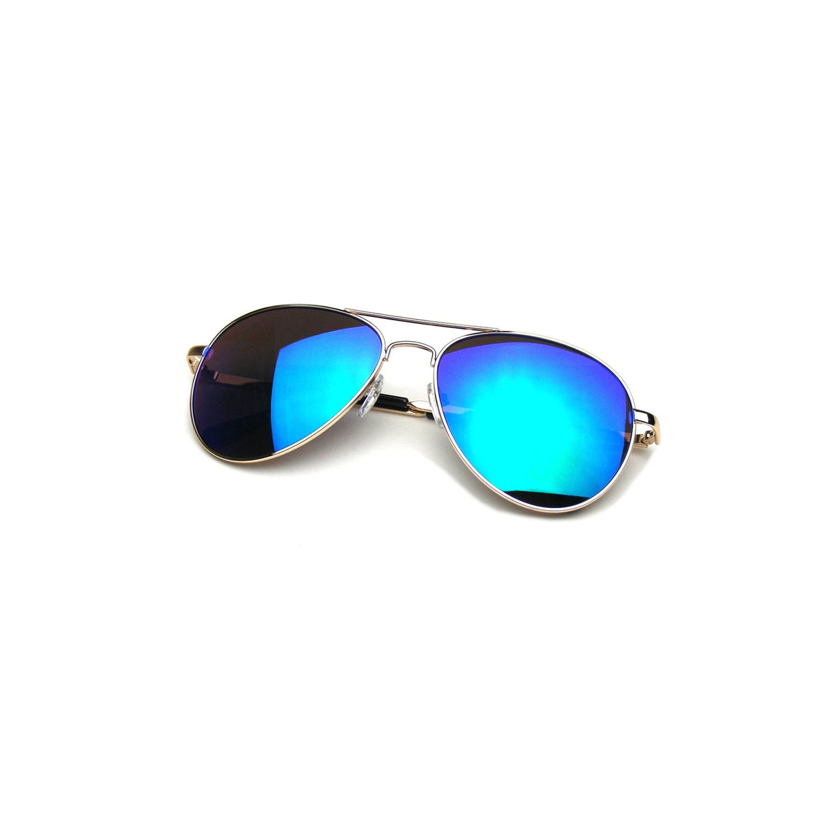 shopify-Vintage Style Aviator Mirrored Sunglasses - Silver, Blue, Black, Pink or Bronze-5