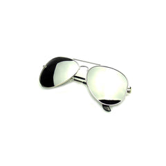 Vintage Style Aviator Mirrored Sunglasses - Silver, Blue, Black, Pink or Bronze
