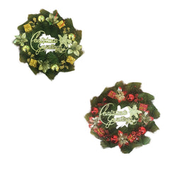 Christmas Wreath - Gold or Red