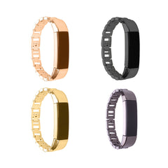 Compatible Fitbit Alta Stainless Bands - Gun Metal, Black, Gold and Rosegold
