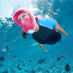 Full Face Snorkeling And Diving Mask Go Pro Compatible - Blue, Black, Green or Pink