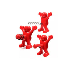 Naughty Party People 3-Piece Wine and Beer Corkscrew, Stopper and Opener Set