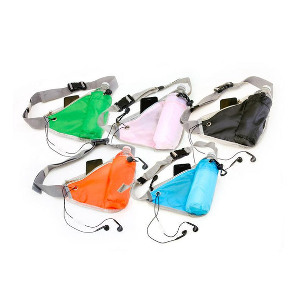 Hydration Belt Pack - Blue, Green, Black, Orange or Pink