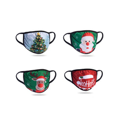 Light Up LED Holiday Face Masks - Santa, Reindeer, Christmas Tree and Ho Ho Ho